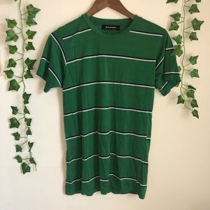 Reformation Green Striped Tee